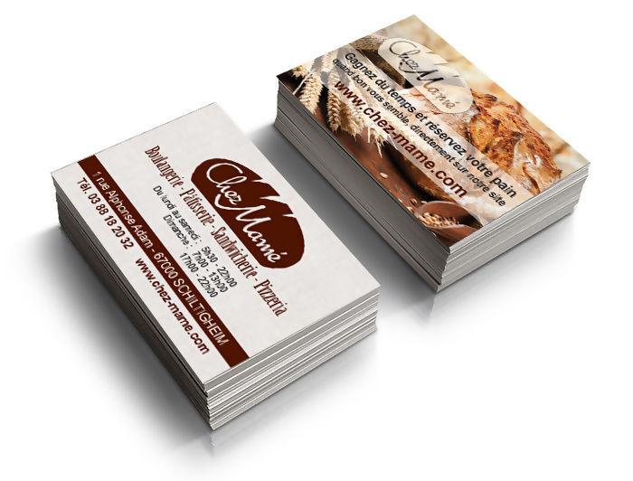 Cration Graphique De Cartes Visite Pour Une Boulangerie