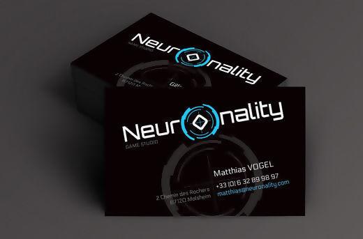 Conception Graphique Dun Logo Pour La Societe Neuronality Studio De Creation Jeux Video Realisation Cartes Visite En Declinaison A Charte